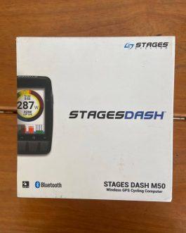 GPS e Ciclo Computador Stages Dash M50, Peso 94 g, Usado.