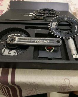 Medidor de Potência Rotor Inpower Rex1 MTB, Peso Aprox. 627 g, Usado.
