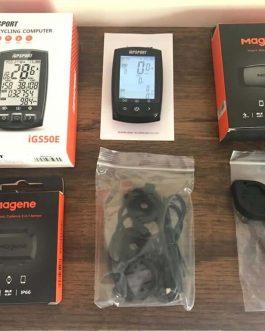 Ciclocomputador Igpsport IGS50e + Sensor de Cadência/Velocidade e Cinta Magene, Novo.