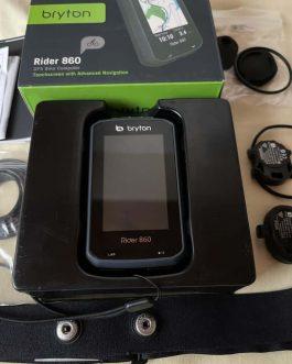 Ciclocomputador GPS Bryton Rider 860 T Bundle, Nota fiscal Peso Aprox 130 g, Usado.