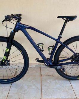 Caloi Elite Carbon Team 2020 Tamanho M (17), Peso Aprox. 10,2 kg, Usada.