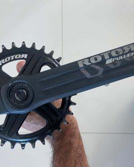Pedivela Medidor de Potência Rotor Inpower, pra MTB, Peso Aprox. 650 g, Usado apenas 4 vezes.