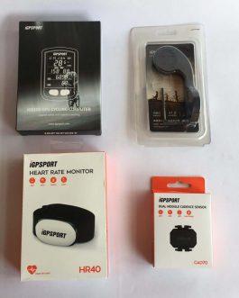 Ciclocomputador e GPS IGPSport IGS10 S + Cinta Cardiaca IGPSport HR40+ Sensor de Cadência IGPSport CAD70, Novo.