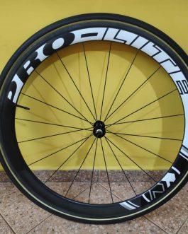 Rodas PRO-LITE Bracciano C50T Tubular Carbon , Peso Aprox. com pneus e tubeless 2,25 kg, Usadas.